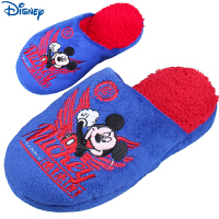 迪士尼米奇儿童棉拖鞋男女童厚底短绒拖鞋女亲子款拖鞋冬