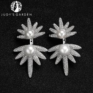 【茱蒂的花园】双子星流星珍珠范爷同款MONACO时尚风格APM耳环耳钉耳饰耳坠饰品首饰女款女式