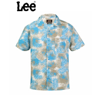 LEE蓝色时尚印花短袖衬衫6392-6V6R