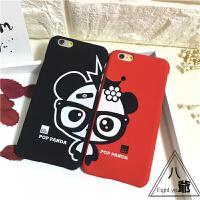 新款情侣iphone6手机壳plus保护套苹果6S磨砂硬壳4.7卡通潮
