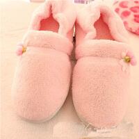 慈颜小花包跟月子鞋 包跟棉拖鞋 甜美家居鞋 孕妇居家保暖鞋OSBR01