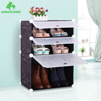 崇尚 环保储物家居多层鞋柜门厅柜大容量简易组装防尘鞋架
