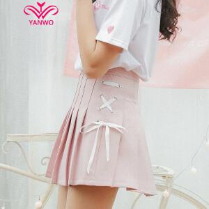 演沃 2017新款带蝴蝶结装饰绑带好好质量!半身裙