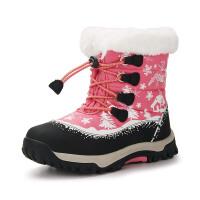 camkids小骆驼 儿童雪地靴 女童靴子 中童运动鞋 加厚保暖足部防护986230