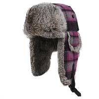 女士时尚兔毛雷锋帽女皮草帽 冬季帽子冬天户外帽滑雪帽雷锋帽棉帽