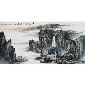 杨明《夜幕临江籁无静》中国美术家协会会员、国家一级美术师
