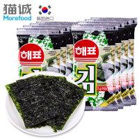 韩国进口 海牌烤海苔2g*8 紫菜片海苔卷 包饭海苔休闲零食品