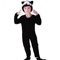 宝宝表演衣服儿童黑猫演出服花猫女冬跳舞蹈衣黑猫小猫咪动物服装套装男春秋季黑猫