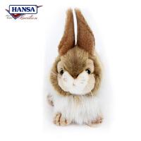【当当自营】HANSA仿真毛绒公仔 兔子长23cm