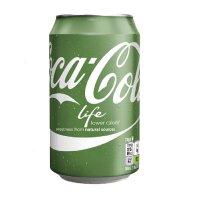 USA美国进口 Coca-Cola Life新生可口可乐汽水 355ml*12罐