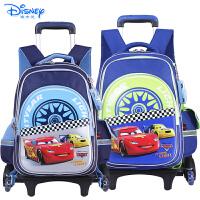 Disney/迪士尼 汽车总动员儿童小学生卡通三轮可爬楼拉杆书包RB0084