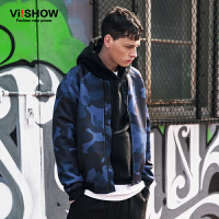 VIISHOW男装秋季韩版迷彩夹克棒球服男式外套jacket街头潮茄克衫