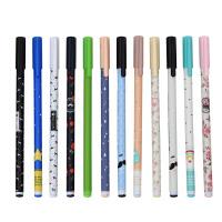 【满100减30 包邮】至尚创美 创意学生文具用品 学生可爱中性笔24支盒装 0.35/0.38mm碳黑中性笔水笔 学习办公文具用品