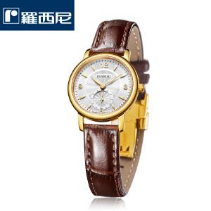 【罗西尼时尚超薄系列】厂家直送女士手表进口瑞士机芯耐用防水时尚超薄女表DD126462