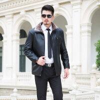 逸纯印品(EASZin)男装皮毛一体 冬季仿真皮皮衣水洗PU皮中长款 加厚保暖皮夹克外套