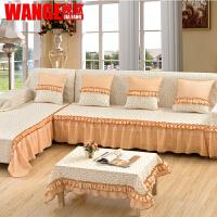 晚歌沙发垫欧式棉麻沙发套坐垫防滑沙发罩四季沙发巾简约套装