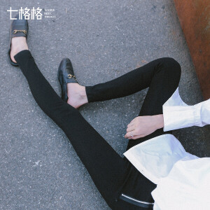 【9.21超级品牌日】七格格黑色打底裤女显瘦黑韩版学生外穿百搭秋季新款潮紧身长裤九分裤子