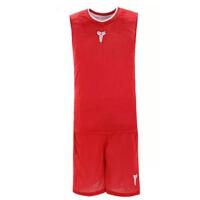 运动双面科比短袖篮球服套装男款球衣队服詹姆斯训练背心篮球 荧光绿 5XL适合