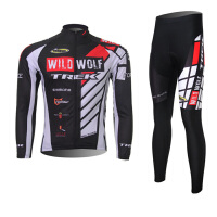 XINTOWN春秋季长袖骑行服套装吸湿排汗自行车服透气速干衣
