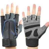 健身手套男女半指运动手套 锻炼训练哑铃举重加长护腕 手套