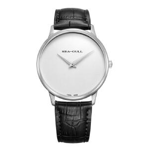 海鸥表2016新款男士手表 简约大两针皮带手动机械男表多色可选条棍男表6011 系列
