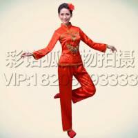 新款民族秧歌服演出服女装古典舞台表演服腰鼓服饰现代扇子舞蹈服服舞台演出服