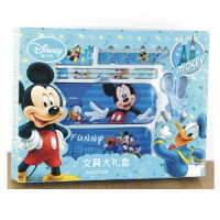 陆捌壹肆 迪士尼小学生文具礼盒男女生儿童文具套装学习用品文具盒 一套装