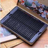 MARCO马可雷诺阿3200�\木彩色铅笔 进口芯48色油性彩铅 铁盒套装可画秘密花园和飞鸟等入门手绘涂色书本
