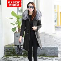 逸纯印品(EASZin)双面呢羊毛大衣 2016秋冬新款 中长款欧美气质双面羊毛呢大衣女