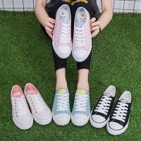 匡王2017夏季新款韩版帆布鞋女系带平底休闲鞋板鞋布鞋女学生百搭鞋子