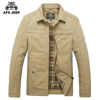 AFS JEEP战地吉普男士夹克春季新款男装翻领纯棉宽松大码休闲外套