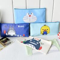 笔袋学习用品铅笔盒女文具盒简约帆布创意韩国儿童小清新韩国文具