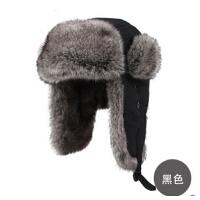 冬男士雷锋帽男户外大码韩版毛绒帽子东北帽保暖帽子加厚棉帽