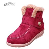 欣清老北京布鞋靴子货到付款女款短靴冬季雪地靴保暖加厚淑女短靴及踝靴