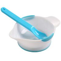 日康 宝宝学食碗带勺 婴儿防滑可微波餐具儿童碗勺研磨组合RK3803(颜色随机)
