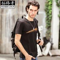 拓路者Pioneer Camp 2016夏季新款圆领短袖T恤男骆驼半袖大码体恤衫宽松小衫T恤 305009