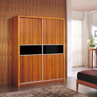 尚满 浅胡桃实木系列卧室家具趟门衣柜储物柜 现代中式推拉门衣柜储物衣橱 移滑门大空间衣柜