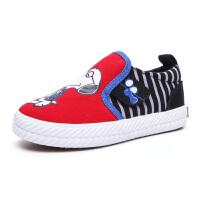 史努比童鞋男童帆布鞋中大童鞋子春新款板鞋儿童布鞋男休闲鞋