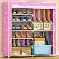 蜗家鞋柜 大容量8层收纳鞋橱 加厚无纺布鞋架鞋柜 防尘防潮储物柜 收纳柜 0602cx