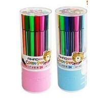 爱好36色苗条筒装水彩笔儿童绘画涂鸦可水洗套装画笔1661-36   单筒价格