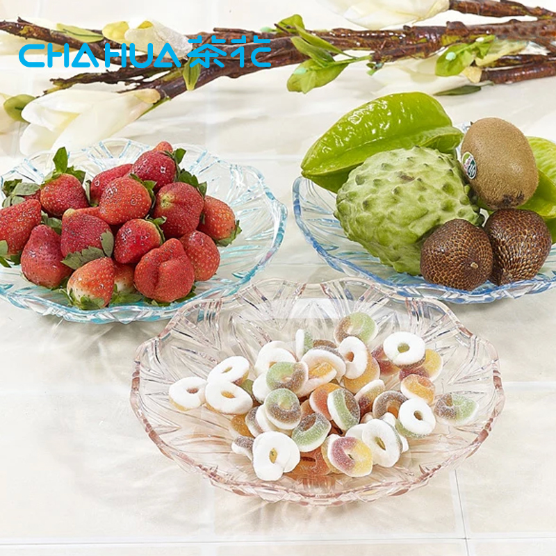 【茶花碗/碟/盘】茶花糖果盒果盘瓜子零食花生红枣果