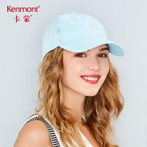 卡蒙防晒帽子女刺绣弯檐棒球帽简约防紫外线帽户外速干夏季遮阳帽3428