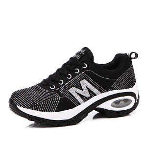 Mr.zuo2017春夏季新款韩版飞织女士运动鞋女网面跑步鞋减震气垫旅游鞋子