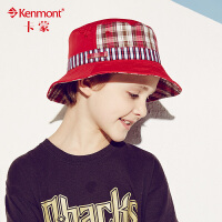卡蒙春夏天新款男童帽子 大帽檐儿童渔夫帽 防紫外线帽太阳帽户外4888