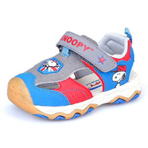 史努比童鞋凉鞋夏季新款儿童凉鞋包头沙滩鞋男童鞋女童鞋机能凉鞋