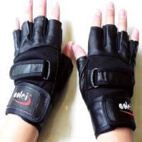 真皮健身健美训练加长护腕防滑耐磨手套国家队护具透气运动手套哑铃器