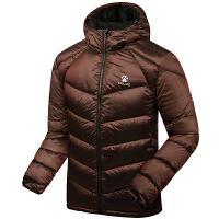 KELME卡尔美 K46C5065 男式休闲羽绒服 加厚保暖运动外套 连帽炫色羽绒上衣