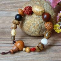 缘饰传说 优质十八子菩提子佛珠手串男女款木质手链