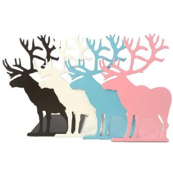 可爱小麋鹿造型 书挡书夹书靠可爱卡通造型麋鹿 书立大书立桌面整.
