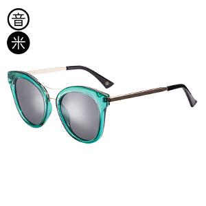 音米2017新款百搭偏光太阳镜女司机镜 圆脸开车墨镜女潮复古眼镜 AASBTD366